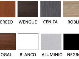 Ocho colores para las patas de madera
