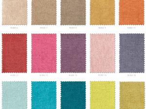 Carta de colores de telas serie Nido Colorsane
