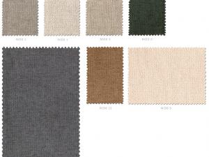 Segunda carta de colores de telas serie Nido Colorsane
