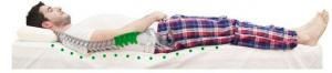 Si lo que te gusta es dormir boca arriba, tu almohada debería ser, ni muy alta ni muy baja.