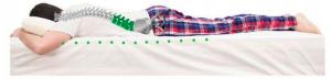 Para dormir boca abajo, necesitarás una almohada baja y además, según tu constitución física, otra almohada bajo el vientre, la cual te ayudará a soportar la columna, ya que al estar boca abajo, se provoca una sobrecarga en la zona lumbar, al estar mucho tiempo en la misma posición.